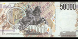 Italie - p116b - 50.000 Lire - 27.05.1992 - Banca d'Italia