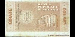 Italie - pG1281 - 100 - 100 Lire - 20.04.1977 - Banca Popolare di Milano