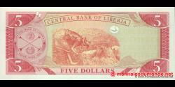 Libéria - p26e - 5 dollars - 2009 - Central Bank of Liberia