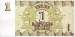 Lettonie - p35 - 1 Latvijas Rublis - 1992 - Latvijas Bankas