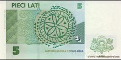 Lettonie - p53c - 5 Lati - 2009 - Latvijas Bankas
