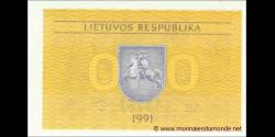 Lituanie - p29a - 0,10 Talonas - 1991 - Lietuvos Respublika