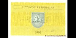 Lituanie - p29b - 0,10 Talonas - 1991 - Lietuvos Respublika