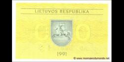 Lituanie - p30b - 0,20 Talonas - 1991 - Lietuvos Respublika