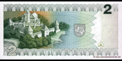 Lituanie - p54 - 2Litai - 1993 - Lietuvos Bankas