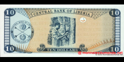 Libéria - p27e - 10 dollars - 2009 - Central Bank of Liberia