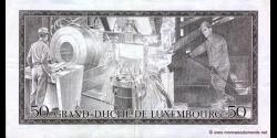 Luxembourg - p55b - 50 Francs - 25.08.1972 - Grand - Duché de Luxembourg