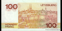 Luxembourg - p58a - 100 Francs / Frang - ND (1986) - Institut Monétaire Luxembourgeois