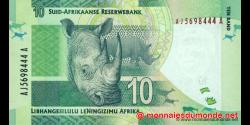 afrique du sud - p133a - 10 rand - ND (2012) - South African Reserve Bank / Suid - Afrikaanse Reserwebank / liBhangi lesiLulu l