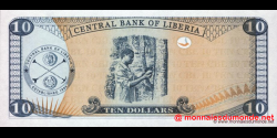 Libéria - p27f - 10 dollars - 2011 - Central Bank of Liberia