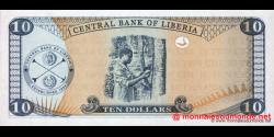 Libéria - p27f - 10 dollars - 2011 - Central Bank of Liberia