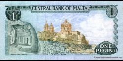 Malte - p31b - 1 Lira - L. 1967 (1973) - Bank Ċentrali ta'Malta / Central Bank of Malta