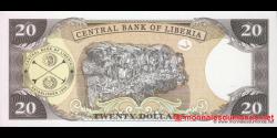 Libéria - p28e - 20 dollars - 2009 - Central Bank of Liberia