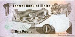 Malte - p34b - 1 Lira - L. 1967 (1979) - Bank Ċentrali ta'Malta / Central Bank of Malta