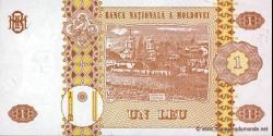 Moldavie - p08b - 1 Leu - 1995 - Banca Naţională a Moldovei