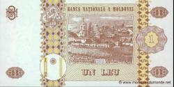 Moldavie - p08h1 - 1 Leu - 2010 - Banca Naţională a Moldovei