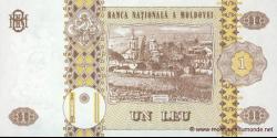 Moldavie - p08g - 1 Leu - 2006 - Banca Naţională a Moldovei