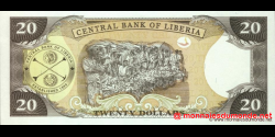 Libéria - p28f2 - 20 dollars - 2011 - Central Bank of Liberia