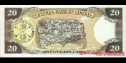 Libéria - p28f2 - 20 dollars - 2011 - Central Bank of Liberia