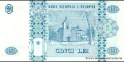 Moldavie - p09f - 5Lei - 2009 - Banca Naţională a Moldovei