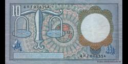 Pays-Bas - p85 - 10 Gulden - 23.03.1953 - Nederlandsche Bank