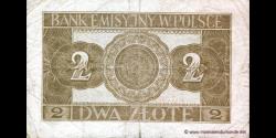 Pologne - p092 - 2 Złote - 01.03.1940 - Bank Emisyjny w Polsce
