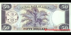Libéria - p29d - 50 dollars - 2009 - Central Bank of Liberia