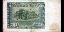 Pologne - p102 - 50Złotych - 01.08.1941 - Bank Emisyjny w Polsce