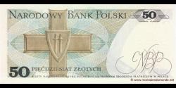 Pologne - p142c2 - 50Złotych - 10.06.1988 - Narodowy Bank Polski
