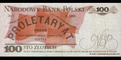 Pologne - p143b - 100Złotych - 17.05.1976 - Narodowy Bank Polski