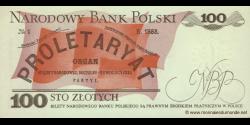 Pologne - p143d - 100Złotych - 01.06.1982 - Narodowy Bank Polski