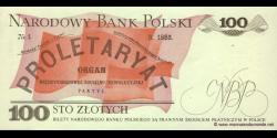 Pologne - p143e - 100Złotych - 01.06.1986 - Narodowy Bank Polski