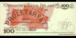 Pologne - p143f - 100Złotych - 01.05.1988 - Narodowy Bank Polski