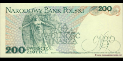 Pologne - p144c - 200Złotych - 01.12.1988 - Narodowy Bank Polski