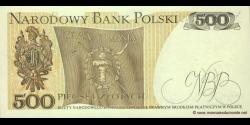 Pologne - p145d - 500Złotych - 01.06.1982 - Narodowy Bank Polski
