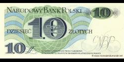 Pologne - p148 - 10Złotych - 01.06.1982 - Narodowy Bank Polski