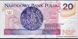 Pologne - p174 - 20Złotych - 25.03.1994 - Narodowy Bank Polski