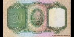 Portugal - p153a - 20 Escudos - 20.06.1949 - Banco de Portugal
