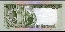 Portugal - p167b5 - 20 Escudos - 26.05.1964 - Banco de Portugal