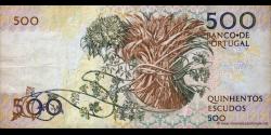 Portugal - p180b2 - 500 Escudos - 04.08.1988 - Banco de Portugal
