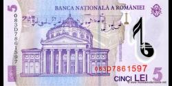 Roumanie - p118d - 5Lei - 2008 - Banca Naţională a României