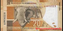afrique du sud - p134a - 20 rand - ND (2012) - South African Reserve Bank / Bankakgolo ya Aforikaborwa / IBulungelo - mali eliK