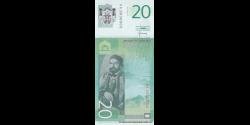 Serbie - p55b - 20 Dinara - 2013 - Narodna Banka Srbije