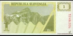 Slovénie - p01 - 1 Tolar - 1990 - Republika Slovenija
