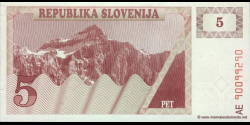 Slovénie - p03 - 5Tolarja - 1990 - Republika Slovenija