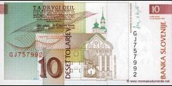 Slovénie - p11 - 10 Tolarjev - 15.01.1992 - Banka Slovenije