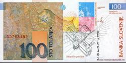 Slovénie - p14 - 100 Tolarjev - 15.01.1992 - Banka Slovenije