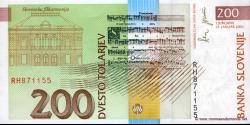 Slovénie - p15c - 200 Tolarjev - 15.01.2001 - Banka Slovenije