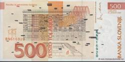 Slovénie - p16b - 500 Tolarjev - 15.01.2001 - Banka Slovenije