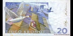 Suède - p61a - 20Kronor - 1991 - Sveriges Riksbank